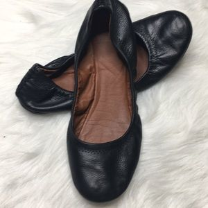Lucky Brand Emmie flats black leather